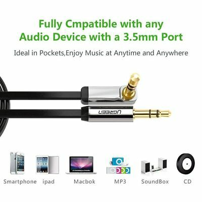 £6.99 • Buy Ugreen 3.5mm Jack Audio Lead Aux Cable 90 Degree Right Angle For IPhone MP4 UK