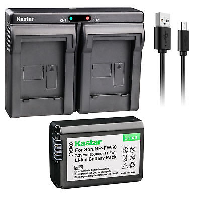 $ CDN20.07 • Buy NP-FW50 Battery & Dual Slim Charger For Sony ILCE-6500 Alpha A6500, ILCE-QX1