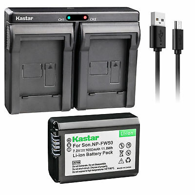 $ CDN19.90 • Buy NP-FW50 Battery & Dual Slim Charger For Sony ILCE-6300 Alpha A6300, ILCE-QX1L