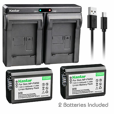 $ CDN27.67 • Buy NP-FW50 Battery & Dual Charger For Sony ILCE-6500 Alpha A6500, ILCE-QX1, NEX-5R