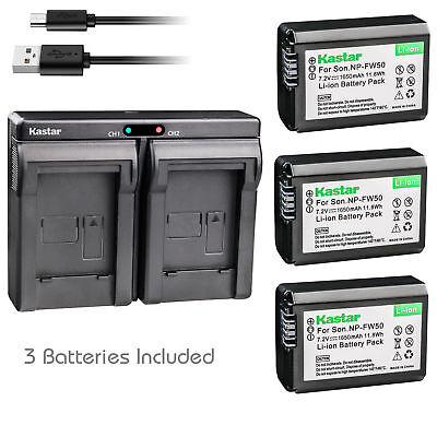 $ CDN31.45 • Buy NP-FW50 Battery & Dual Charger For Sony ILCE-6000 Alpha A6000, NEX-C5, NEX-F3