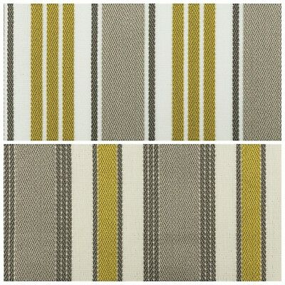 Designer Striped Fabric Thick Heavy Upholstery Cushion Material Roman Blinds  • 13£