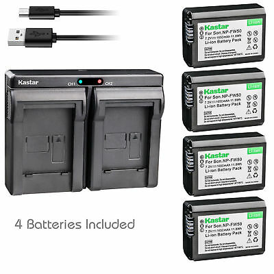 $ CDN38.57 • Buy NP-FW50 Battery & Dual Charger For Sony ILCE-6300 Alpha A6300, NEX-7, NEX-C3