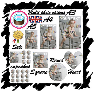 £3.20 • Buy YOUR OWN EDIBLE PHOTO Cake Topper, Personalised Image, Quality ICING OR WAFER