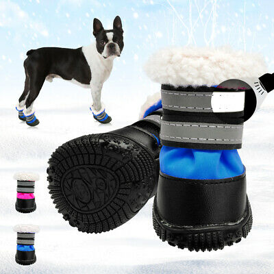 £10.61 • Buy Waterproof Pet Dog Boots Non-Slip Shoes Reflective Warm Cotton Snow Booties #3-5