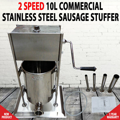 AU368 • Buy 10L Commercial Stainless Steel Sausage Meat Stuffer & Filler Vertical Machines