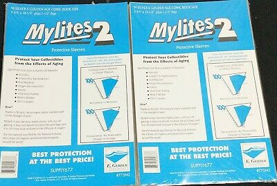 $28.90 • Buy 100 E. Gerber Mylites 2 Mil Mylar  Silver & Golden Age Comic Book Sleeves 775M2