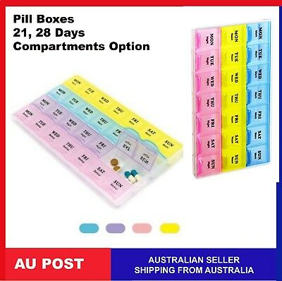 AU6.29 • Buy 7 Days Weekly Pill Box Boxes Medicine Tablet Box Case Container Storage Holder