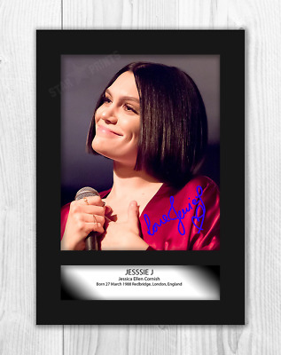 Jessie J (1) A4 Signed Mounted Photograph Picture Poster. Choice Of Frame. • 27.99£