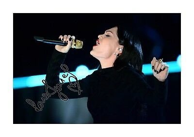 Jessie J (2) A4 Signed Landscape Photograph Picture Poster. Choice Of Frame. • 28.99£