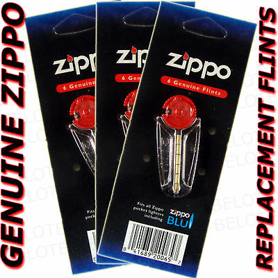 $3.95 • Buy Genuine Zippo Replacement Flint 2406N 3 Packs 18 Flints FREE SHIPPING NEW