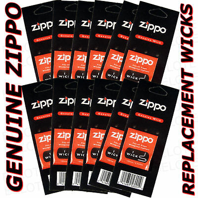 Genuine Zippo Replacement Wick 12 Pack Wicks 2425 USA MADE FREE SHIPPING • 7.55$