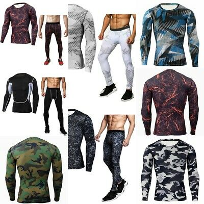 $44.64 • Buy Men Tactical Military Camouflage Autumn Thermal Underwear Breathable Long Johns
