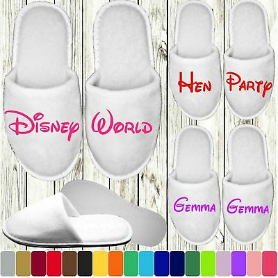 £1.79 • Buy Disney Style Slippers - Personalised Novelty Bridal Party Spa Closed Toe Wedding