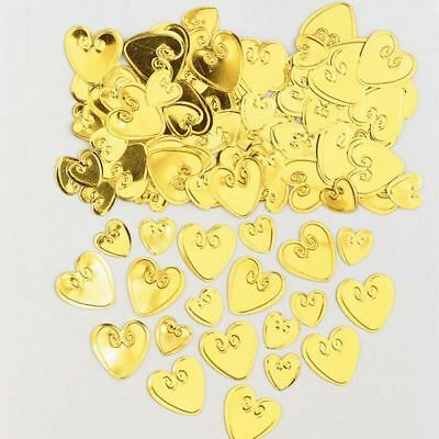 £1.90 • Buy Embossed Gold Love Heart Confetti Valentines Party Table Decoration
