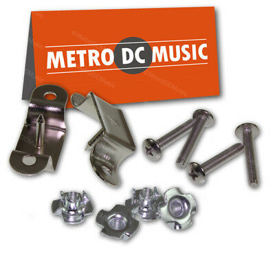$ CDN7.99 • Buy Hardware Set For Slotted Leather Guitar Amp Handle Screws T-Nuts Brackets NEW