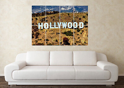 Large Hollywood Sign Mountain America Las Vegas Wall Poster Art Picture Print • 6.49£