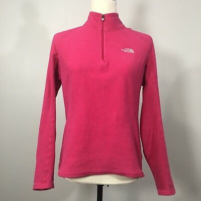£10.95 • Buy THE NORTH FACE Small Half Zip Long Sleeve Fleece Base Layer Pink
