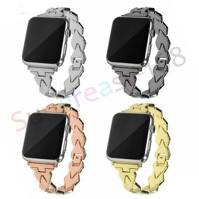 AU17.99 • Buy 44/42mm Stainless Steel IWatch Band Strap Apple Watch Series SE 6 5 4 3 2 1 40mm