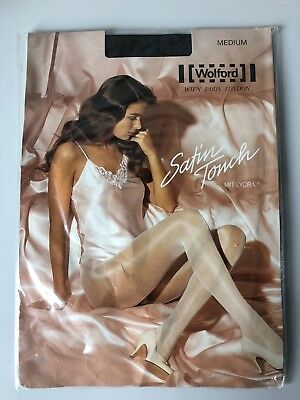 Wolford Satin Touch 20 Denier Shimmer Glossy Tights Pantyhose ADMIRAL MEDIUM • 14.99£