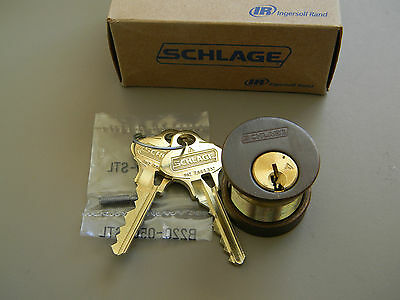$62 • Buy Schlage Everest 29 Mortise Cylinder- Oil Rubbed Bronze- S123 - New