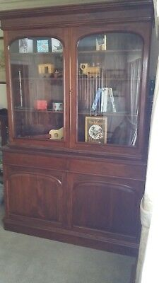 AU1250 • Buy Display Cabinet / Bookcase, Solid Mahogany