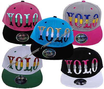 Yolo Unisex Mens Woman Snapback Retro Hip Hop Flat Peak Baseball Cap Hat • 7.99£