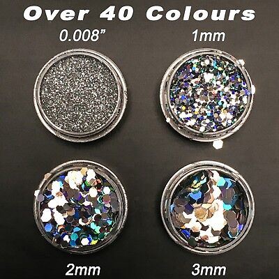 Chunky Glitter Pot Cosmetic Face Nail Art Mermaid Body Tattoo Festival Pots • 1.29£