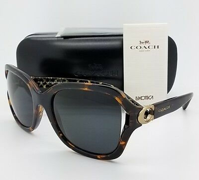 12d7b4aac613 New Coach Sunglasses HC8238 550787 57mm Tortoise Grey Butterfly AUTHENTIC  8238 • 71.99