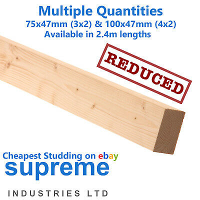 Timber Stud Wall CLS 3x2 & 4x2 In 2.4m Lengths - 10 Lengths Just £55 Nationwide • 55£