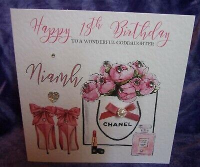 Luxury Personalised Birthday Card Shoes 16th 18th 21st 25th 30th 40th Gift Box • 4.95£