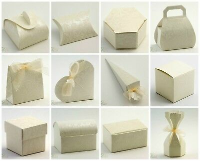 £1.79 • Buy DIAMANTE Ivory Range - DIY Wedding Party Favour Sweet Gift Boxes - Box Only