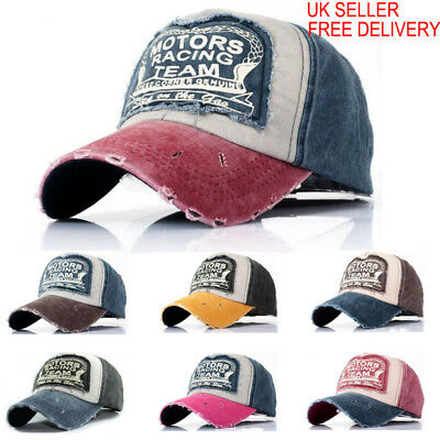 Unisex Baseball Cap Motors Racing Cotton Motorcycle Snap Back Edge Trucker Biker • 6.94£
