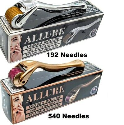 AU26.95 • Buy Derma Roller 540 / 192 Titanium Needles +30ml Alcohol Steriliser 0.25mm - 2.5mm