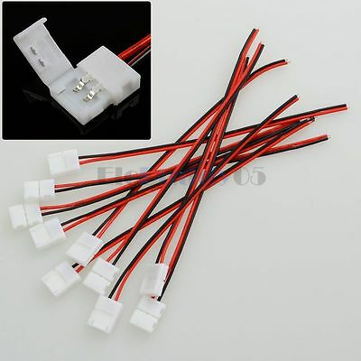 10pcs 2 Pin Connector Wire Cable For 3528 3014 2835 Flexible LED Strip Light  • 4.46$