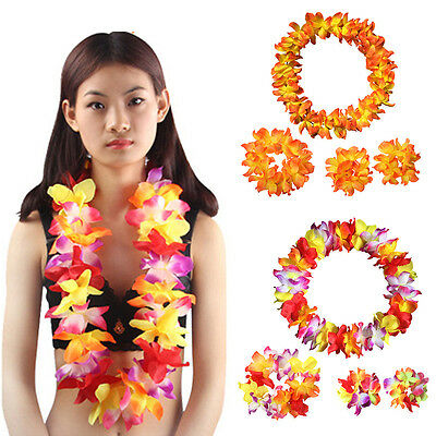 Hawaii Hula Lei Garland Flower Luau Tropical Party Favor Fancy Dress Evening Hot • 2.78£