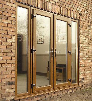 £501.69 • Buy BROWN UPVC FRENCH PATIO DOORS - Made To Measure - NOT Flat Pack! #05