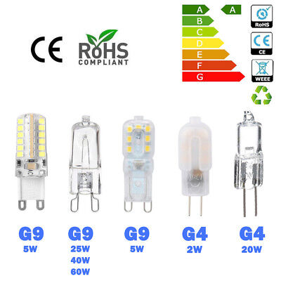 £3.46 • Buy G4 G9 LED Capsule Halogen Light Bulb Replacement Lamp CE ROHS 2W 5W 25W 40W 60W