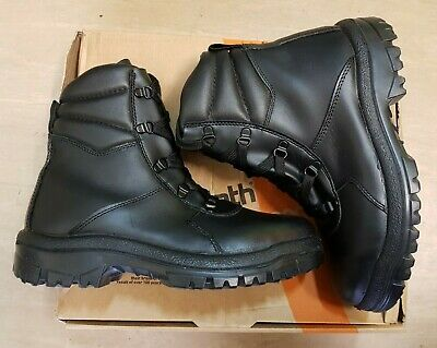 New British Army Issue Goliath YDS Black Steel Toe Mid Tactical Boots Size 6 UK • 29.95£