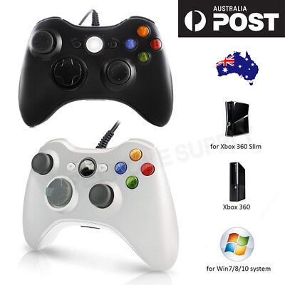 AU59 • Buy Black/White Xbox 360 Wired Controller For Xbox 360 Console PC Windows USB Wired
