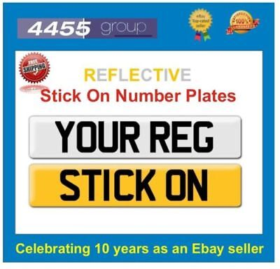Reflective Stick On Number Plate +++++free P&p++++++ • 7.95£