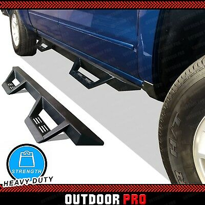 $199.95 • Buy Fit 99-15 Ford F-250 SD Crew Cab Triangle Running Boards Nerf Bars Dropped Step