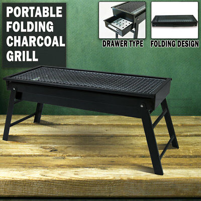 AU21.95 • Buy Foldable Portable BBQ Charcoal Grill Barbecue Camping Hibachi Picnic