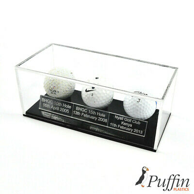£29.49 • Buy Acrylic Golfball Display Case (With Free Inscription Plaque)