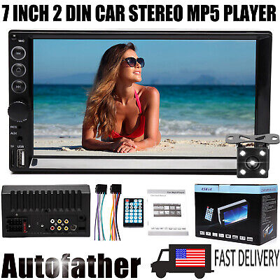 $81.29 • Buy 7inch Car Stereo Radio For Honda Accord Bluetooth 2 Din Touch Screen Free Camera