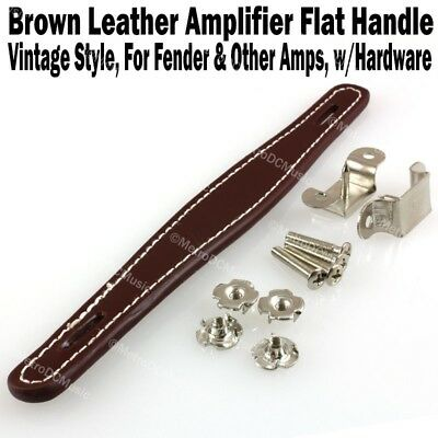 $ CDN15.35 • Buy Brown Vintage Flat Leather Amplifier Handle For Fender & Other Amp Hardware NEW