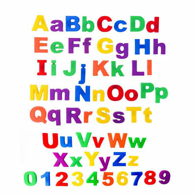 Kids Learning Teaching MAGNETIC Toy Letters & Numbers Fridge Magnet Alphabet New • 2.94£