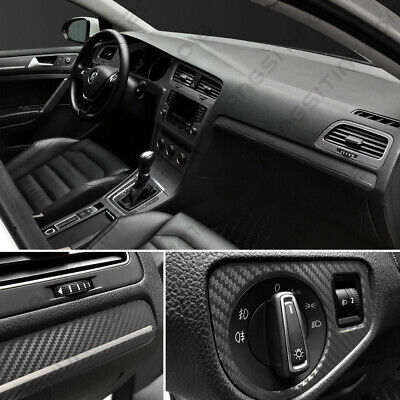AU10.50 • Buy 3D Car Interior Accessories Panel Black Carbon Fiber Vinyl Wrap Sticker 18911