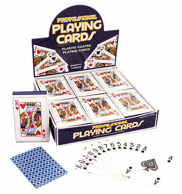 Deck Of Classic Playing Cards - Poker Game Plastic Coated Magic Kids Gift Prize • 1.49£