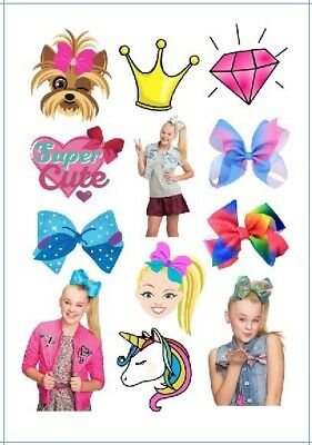 AU6.50 • Buy 1x Jojo Siwa Temporary TATTOO Sheet. Lolly Loot Bag Party Supplies Cake Bunting